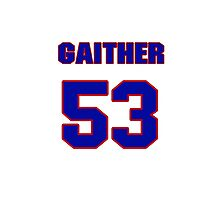 National football player Omar Gaither jersey 53 Photographic Print