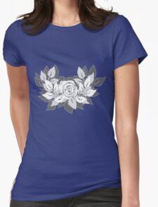 grey rose Womens Fitted T-Shirt