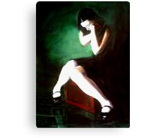 Blame Your Green Eyes (water-colour) Canvas Print