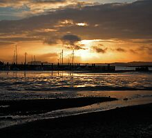 Sunset over Whitecliff Bay by Love Through The Lens