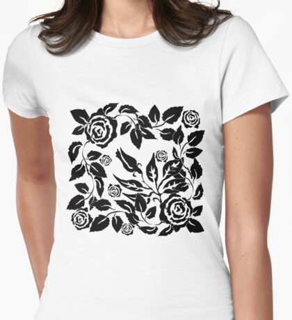 black roses Womens Fitted T-Shirt