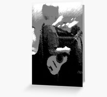 Little Boy with Guitar Greeting Card
