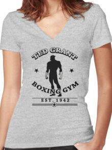 Ted Grant's Boxing Gym Women's Fitted V-Neck T-Shirt
