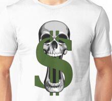 Dollar Sign Skull Unisex T-Shirt