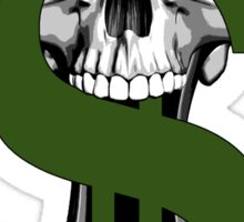 Dollar Sign Skull Sticker