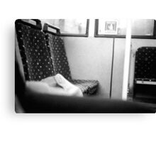On the bus Canvas Print