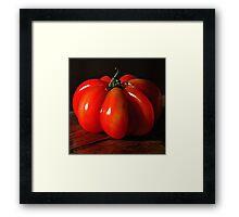 Tomate rouge Framed Print