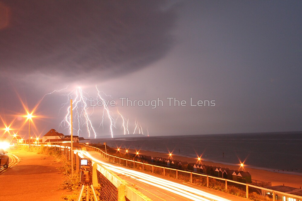 Lightning Strikes the Isle of Wight by Love Through The Lens