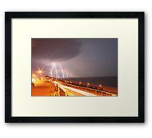 Lightning Strikes the Isle of Wight Framed Print