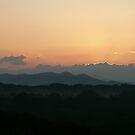 Foggy Mountain Sunrise by Sherri Hamilton