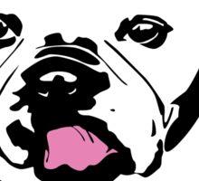 french bulldog licking his lips Sticker