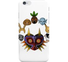 Lots of masks! -white- iPhone Case/Skin