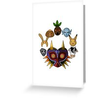 Lots of masks! -white- Greeting Card