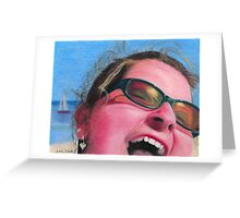 """ BEACH GIRL "" Greeting Card"