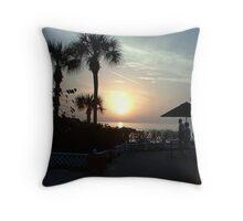 St Pete Beach at Sunset Throw Pillow