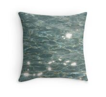 Clear water Throw Pillow