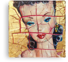 """""""Nothing to Fix"""" (Vintage Barbie) series:IMPLOSION Canvas Print"""