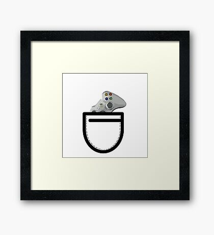 X360 Controller in the Pocket Framed Print