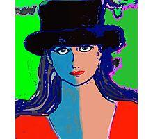 Digital Portrait after Matisse Photographic Print