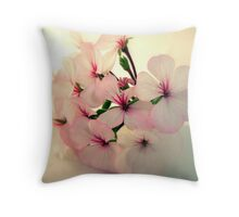 Geranium Flowers Throw Pillow