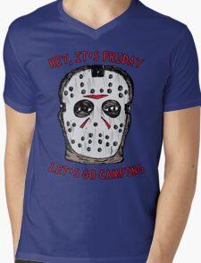 Friday Camping Mens V-Neck T-Shirt