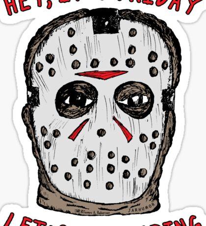Friday Camping Sticker