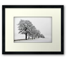 Cold crisp morning snow Framed Print