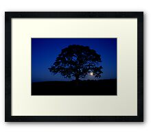 Moon rising over Lonely tree, Stewiacke Framed Print
