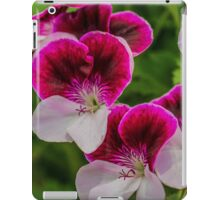 Delphinium White & Red Splash iPad Case/Skin