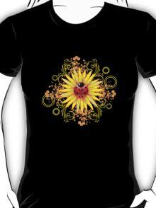 Ladybug Sunflower Paisley Pattern T-Shirt
