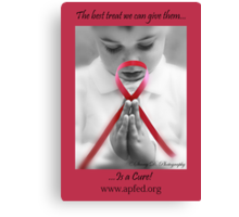 Find a Cure  Canvas Print