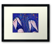 Sandals and Tiny Fish Framed Print