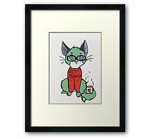 Blogger cat  Framed Print