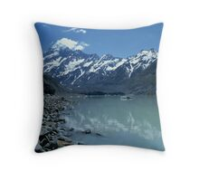 Glacial Lake and Mt Cook, New Zealand Throw Pillow
