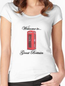 Welcome to Great Britain Women's Fitted Scoop T-Shirt