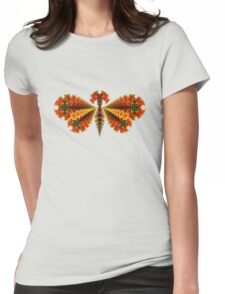 Fractal Butterfly Womens Fitted T-Shirt