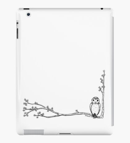Owl and Blossoms iPad Case/Skin