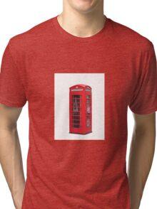 Red Telephone Box Tri-blend T-Shirt