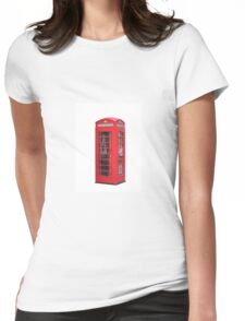Red Telephone Box Womens Fitted T-Shirt