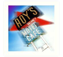roy's, route 66, california Art Print