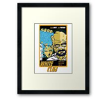 White Club (Breaking Bad + Fight Club mashup) Framed Print