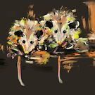 Funcky Baby Possums by Go van Kampen