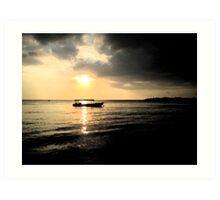 Sunset at Negril Bay Jamaica Art Print