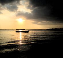 Sunset at Negril Bay Jamaica by WoodHams
