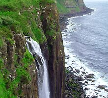 Waterfall at Kilt Rock by Tom Gomez