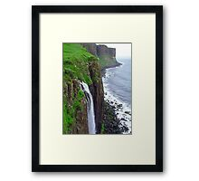 Waterfall at Kilt Rock Framed Print