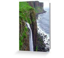Waterfall at Kilt Rock Greeting Card