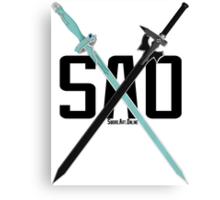 SAO - Crossing Blades Canvas Print