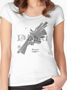 Dubai Map Women's Fitted Scoop T-Shirt