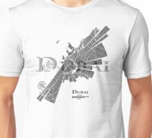 Dubai Map Unisex T-Shirt